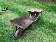 2No wheel barrows