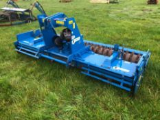 2009 Rabe Toucan SL3000 3m power harrow with rear packer roller. Serial No: 845847.Manual in the Of