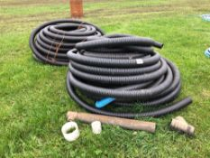 """Quantity 4"""" perforated drainage pipe"""