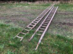 2No. hay ladders