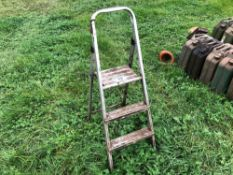 Galvanised step ladder