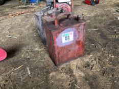 3No. Vintage petrol cans