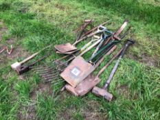 Quantity various hand tools