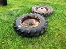 Single 11-28 wheel and tyre, 10 stud