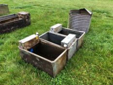 3No. water troughs
