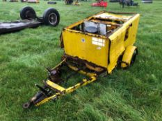 Single axle water pump with Ford engine, spares or repairs