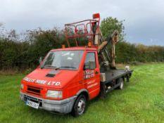 1996 Iveco-Ford van with Simon Topper VM130 cherry picker. Reg No: N990 0AY. Kilometres: 65,739. Ser
