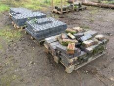 Quantity blue bricks, to be sold in situ