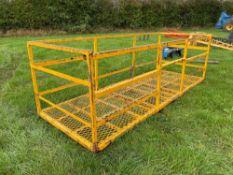 Pallet tine mounted man platform, 12ft x 4.5ft