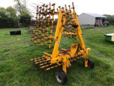 Twose 5m hydraulic folding grass harrows