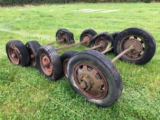 Quantity miscellaneous wheels, tyres and axles