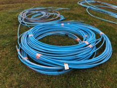 Quantity blue alkathene piping