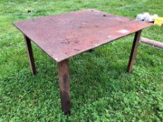 Steel welding table