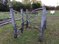 Quantity of galvanized frames suited to water troughs