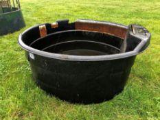 Paxton black plastic water trough