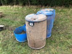 Quantity blue barrels