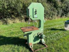 A Cooksley wood cutting band saw