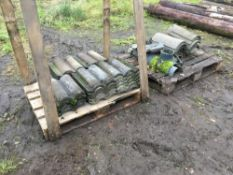 Quantity roofing tiles circa 1000, to be sold in situ approximately half located Hinckley Rd, Sapcot