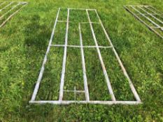 2No. Galvanised 12ft 4inch gate