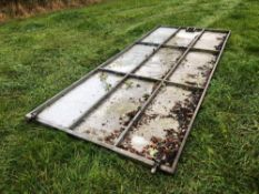 Galvanised 15ft sheeted gate