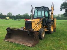 1989 Ford 655C Xtra dig backhoe loader with 4 in 1 front bucket on 10.5/80-16 front and 15.5/85-28 r