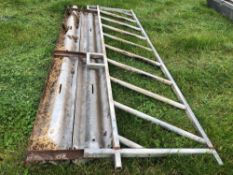Diagonal 12ft fencing barrier with additional diagonal fencing barrier