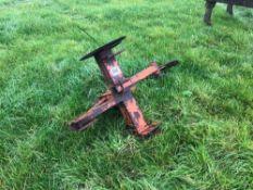 Browns single leg mole plough. Serial No: 12884