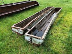 2No. 14ft 3 inch feed troughs