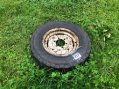 Single 7.5-16 wheel and tyre