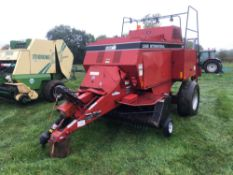 Case International 8570 square baler single axle on 16.5R22.5 wheels and tyres. Serial No: CFH006848