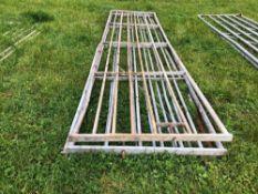 3No galvanised 15ft gates