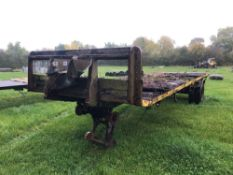 Single axle flat bed trailer 8ft x 24ft with wooden floor