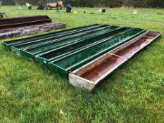 6No. 19ft 5inch feed troughs