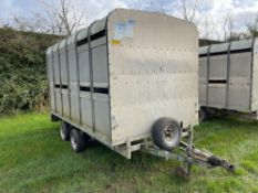 Ifor Williams 12ft cattle trailer with detachable body, spare wheel and partion. NO VAT