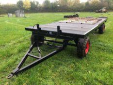 4 wheel 8ft x 20ft bale trailer with mesh floor