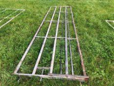 2No. Galvanised 15ft gates