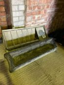 2 x water troughs (1 x plastic and 1 x galvanised)