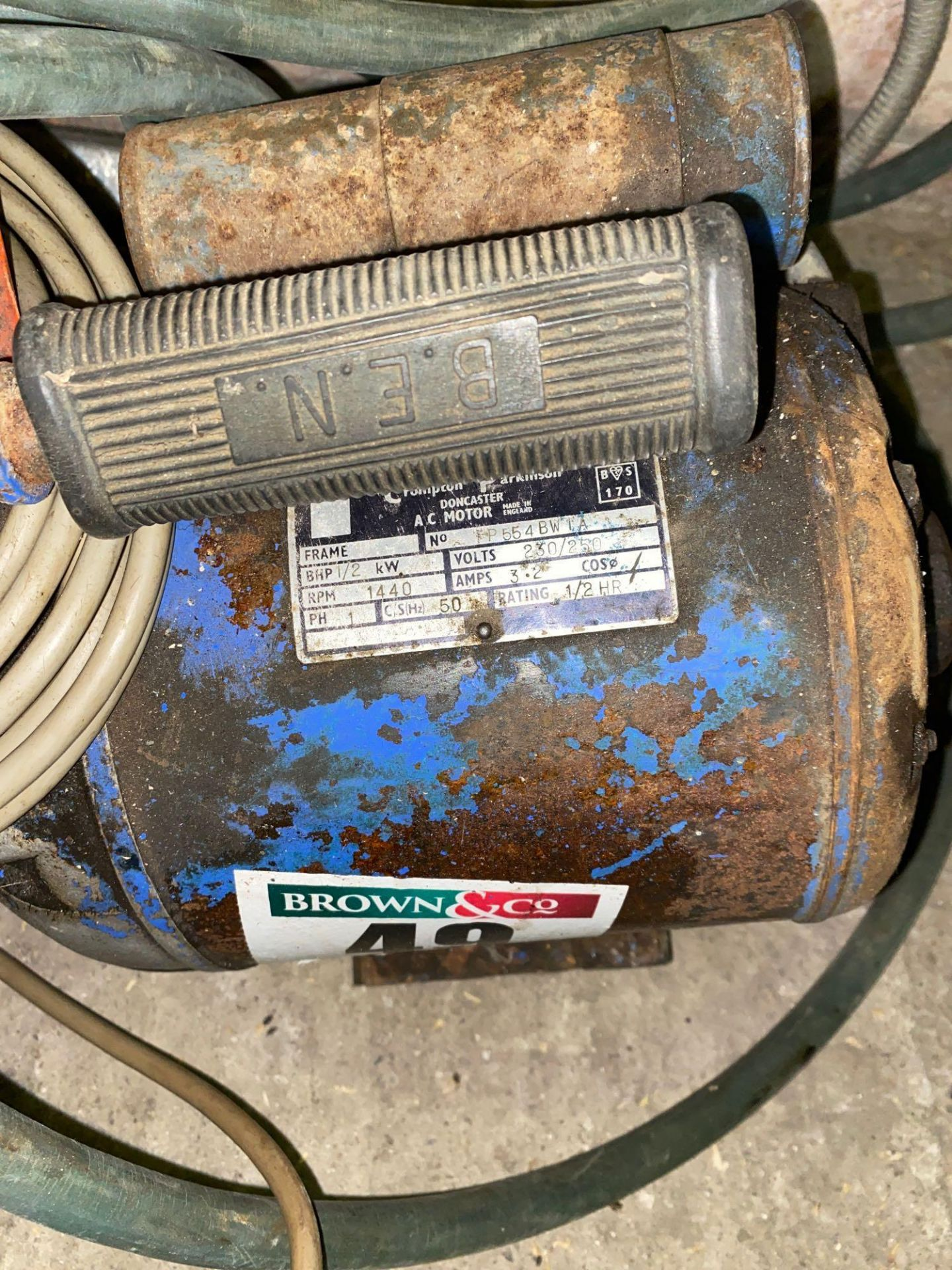 Crompton Parkinson Compressor, 240 volt for spares or repairs - Image 3 of 3