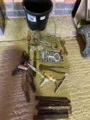 Bucket of assorted tools