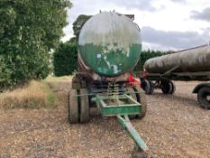 Stainless steel water bowser with aluminium outer skin