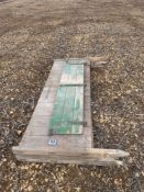 3 x wooden fence panels (2.45m)