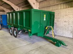 2014 Bailey 9t grain trailer with lift off sides Manual in the office