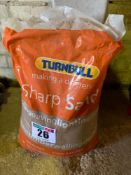 Bag of sharp sand
