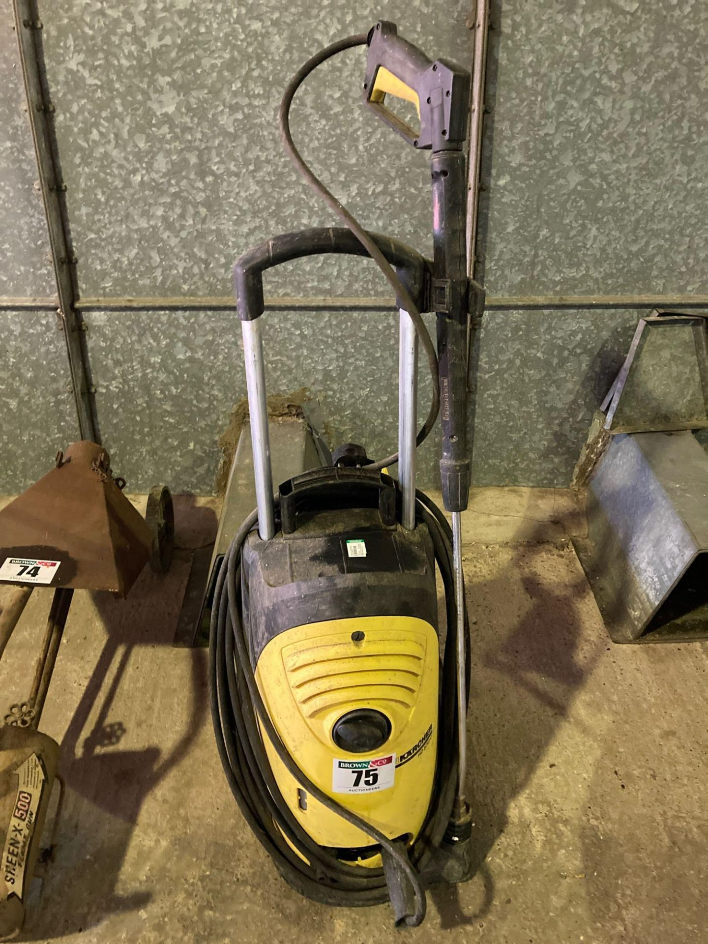 Karcher HD 5/12C pressure washer. Manual in the office.