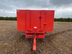 1994 Easterby 8t twin axle grain trailer, manual tail gate, Serial No: 2680