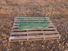Farm made metal frame for quadbike sprayer