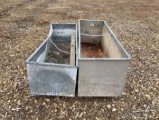 2 x galvanised troughs (1.86m)