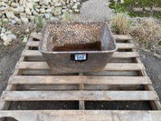 cast iron trough