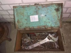 Tool box containing tools