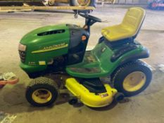 John Deere L120 automatic, ride on lawnmower, 48 inch cut, 410 hours. New cutting deck, bearings and